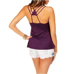 Eggplant Sleeveless Triangle Back Top