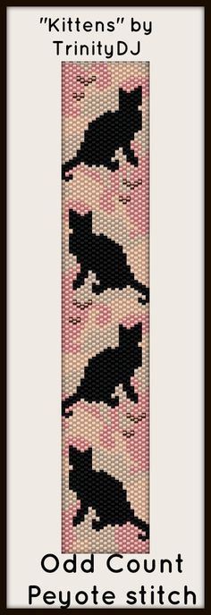 "NEW AND EXCITING NEWS FROM TRINIYDJ: Here's your chance to test bead new designs and earn DISCOUNTS on your next 'In the Raw' Design! ""Kittens"" (Odd Count Peyote stitch bracelet pattern) is one of the designs in this section. Please follow this link for more info: http://cart.javallebeads.com/Kittens-In-the-Raw-Odd-Peyote-Stitch-Pattern-p/td064.htm"