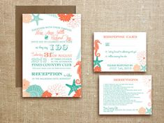 PRINTABLE Beach Tropical WEDDING INVITATION by DesignedWithAmore, $18.00