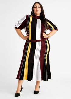 Plus Size Sweater Dress, Plus Size Sweaters, Trendy Plus Size, Plus Size Women, Plus Size Dresses, Dresses For Work, Fit And Flare, Plus Size Fashion, Casual Dresses