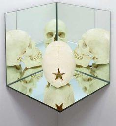 Douglas Gordon (born 1966) Skull, mirror, and certificate of authenticity, 2004 Marcel Duchamp, Douglas Gordon, Authenticity, Certificate, Skull, Mirror, Portrait, Headshot Photography, Mirrors