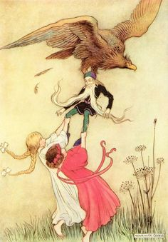 Snow White & Rose Red - Warwick Goble