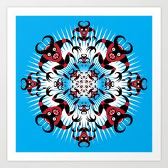 WARP!_BR Art Print by HOOKEEAK - $18.00