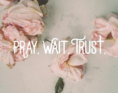 """Pray wait trust for the man God is preparing for you. The Godly man that one day will say """"Will you marry me? Faith Quotes, Bible Quotes, Pray Quotes, Answered Prayer Quotes, God Answers Prayers, Trust In God Quotes, Quote Life, Spiritual Inspiration, God Is Good"""