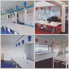 TSJOEPY your office. Fagron Belgium. #tsjoepy #blue #red #led #darlings DARK® #lighting #design #interiordesign #arredo #workspace #fagron #nazareth dark.be  [www.fagron.be]