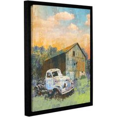 ArtWall Greg Simanson Abandoned Gallery-Wrapped Floater-Framed Canvas, Size: 14 x 18, Green
