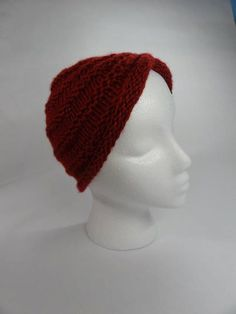 Turban Headwrap Hat Knitted or Crocheted by toppytoppy on Etsy,