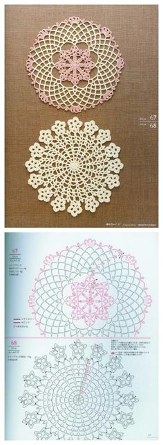 Pretty crochet patterns for many motifs and doilies. #crochet