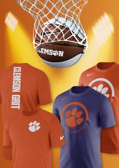 4c4dbb04444 Support the Clemson Grit with your own Clemson Basketball tee! Click to  shop Clemson Basketball