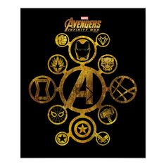 Avengers: Infinity War | Connected Hero Icons Poster