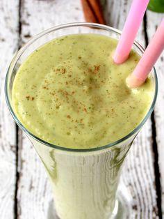 Avocado Mango Spinach Smoothie | YummyAddiction.com