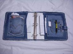 Tutorial del dril de algodón cubierta Notebook por ljeans en Etsy