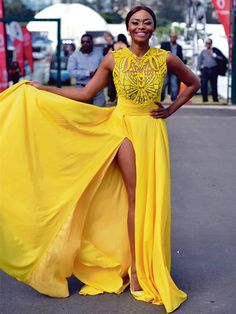 Bright A-Line Scoop Appliques Beading Sweep Train Evening Dress #Dress #EveningDress