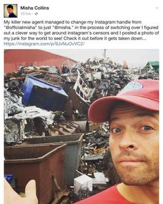 "Misha's ""junk"" posted on Instagram 10/22/15."