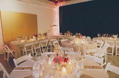 Simple but beautiful reception. Los Angeles Industrial Wedding: Kari + Jaime