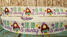 Space Ship Up Up Away M2M US Designer 7/8 by LulusBowtiqueSupply