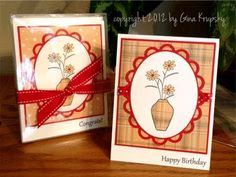 Paper Pieced Card Set - Awesome card making video tutorial by Gina K!