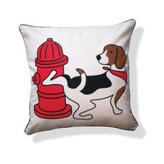 Pee Pee Beagle Pillow, $35, now featured on Fab.
