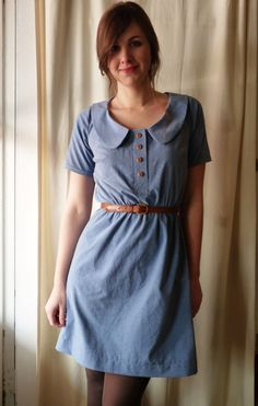 Megan Nielsen Banksia top lengthened to a dress - amazing!