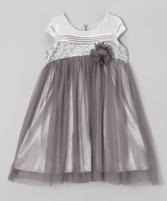 Silver Libebe Dress - Infant, Toddler & Girls by C'est Chouette #zulily #zulilyfinds