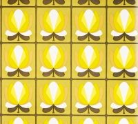 Green/yellow graphic pattern. Seen on retrovilla.dk