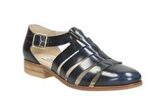 Hotel Bustle, Navy Leather, Womens Casual Shoes