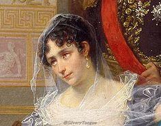 Jean Louis Victor Viger du Vigneau, dit Hector Viger (Argentan, 1819 ; Paris?, 1879) L'impératrice Joséphine reçoit à la Malmaison la visite du Tsar Alexandre Ier ( vers 1864, Musée national du Château de Malmaison) (detail).