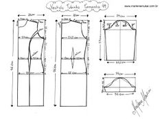 bory-m. Clothing Patterns, Dress Patterns, Sewing Patterns, Pattern Cutting, Pattern Making, Sewing Clothes, Diy Clothes, Body Manga Longa, Modelista