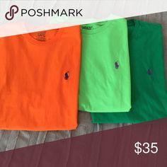 3 men's polo t shirts 3 short sleeve men's polo t shirts Polo by Ralph Lauren Shirts Tees - Short Sleeve
