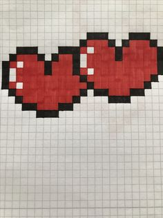 Nice hearts that you can draw and are really cute for any size. - Nice hearts that you can draw and they are really cute for any card or dedication! Graph Paper Drawings, Graph Paper Art, Easy Drawings, Pixel Pattern, Pattern Art, Pony Bead Animals, Pixel Drawing, Art Perle, Pix Art