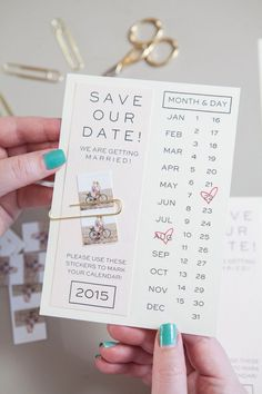 Make your own save the dates with this printable invitation and your own instagram photos.