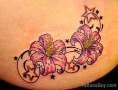 Exotic Flower Tattoo
