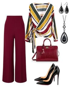 """Work"" by taniaisabel-1 on Polyvore featuring Roland Mouret, Talbots, Christian Louboutin and 1928"
