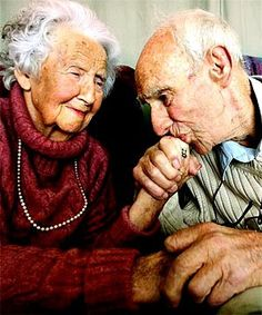 old-couples are the cutest thing ever to know two people loved each other forever