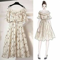 Reversible Clothing and Accessories for Travel Korean Girl Fashion, Asian Fashion, Look Fashion, Fashion Design Drawings, Fashion Sketches, Fashion Drawing Dresses, Fashion Dresses, Dress Illustration, Illustration Fashion