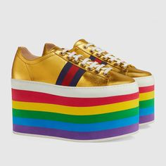 092af33a Pride Shoes, Leather Shoe Laces, Leather Flats, Red Trainers, Adidas  Sneakers,