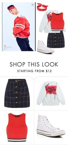 """NCT U / TEN"" by k-popinspired ❤ liked on Polyvore featuring Chicnova Fashion, New Look, Converse and LA: Hearts"