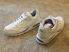 #Men #Shoes Nike Air Athletic Shoes Men's Size 10.5M White Leather #Men #Shoes