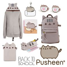 """""""#PVxPusheen"""" by beautyguru-secrets ❤ liked on Polyvore featuring Pusheen, contestentry and PVxPusheen"""