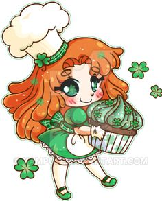Celtic Cupcakery ::Micro Chibi Commission: by YamPuff