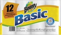 Bounty Basic Paper Towel Rolls 1-Ply White 30ct  Item #1434 Your Price: $27.89 (cotsco)