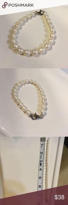 Pearl bracelet Beautiful white ivory pearl bracelet Jewelry Bracelets