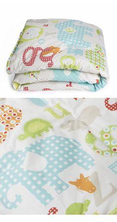 Little Chipipi Organic Cot Linen Baby Alphabet Cot Quilt