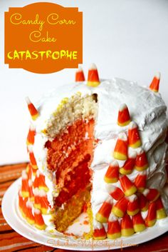 Candy Corn Cake Catastrophe