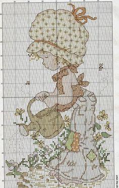Schema punto croce Sarah Kay annafiatoio | Hobby lavori femminili - ricamo - uncinetto - maglia