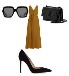 """""""Untitled #61"""" by traniece94 on Polyvore featuring Loup Charmant, Gianvito Rossi, Yves Saint Laurent and Gucci"""