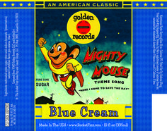 Soda Pop Labels of Fame : Mighty Mouse Blue Cream