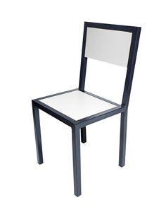 SILLA CAÑO CUADRADO UNR Chair Bench, Diy Chair, Reclaimed Wood Furniture, Metal Furniture, Metal And Wood Chairs, Steel Sofa, Luxury Office, Art Mural, Diy Home Decor