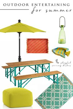 Outdoor Entertaining for Summer // by The Yuppie Files
