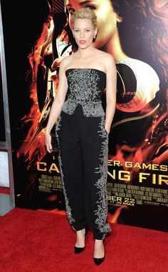 Elizabeth Banks at New York Premiere from Hunger Games: Catching Fire Premieres | E! Online